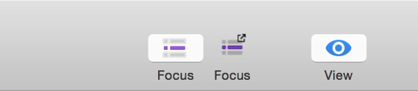 Focus in Toolbar
