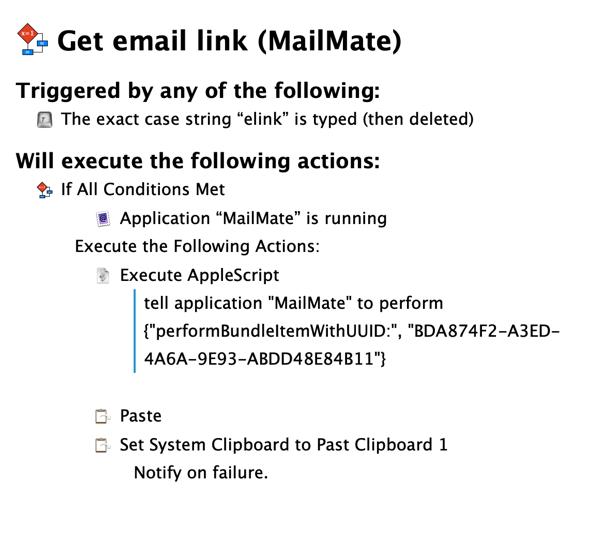 Get email link macro